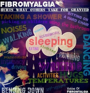 Fibro hurts what others take for granted.